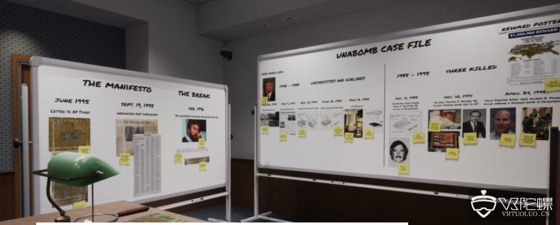 """VR版《追捕!》:《Unabomber VR》让你化身FBI和记者追捕""""逍遥法外""""17年的暴恐嫌犯"""