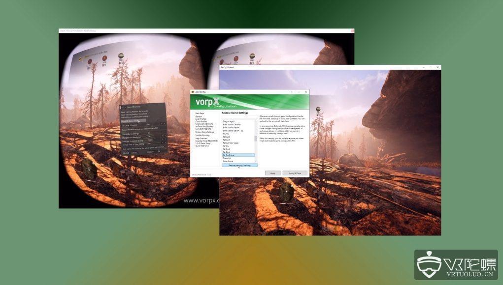 "Oculus Rift""同龄""VorpX 3D驱动更新特性:让玩家更加舒适地在VR中玩更多非VR游戏大作"