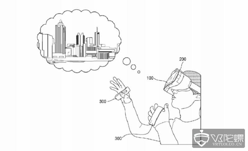 三星新专利曝光:为Gear VR开发的带磁性VR控制手柄