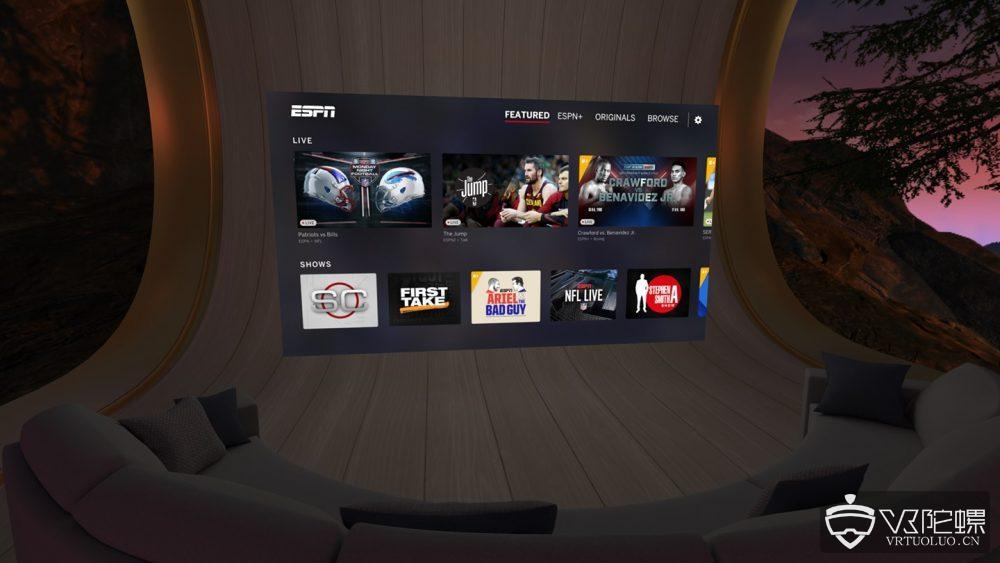 Oculus TV迎更新,新增ESPN、Sling TV和FOX NOW