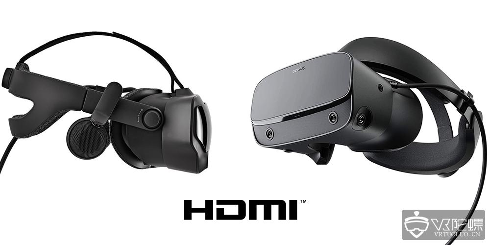 Oculus Rift S和Valve Index需与有HDMI接口的笔记本电脑连接