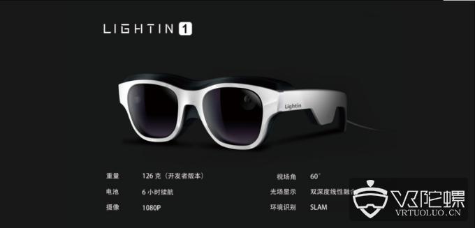 光粒科技发布光场AR眼镜LIGHTIN 1