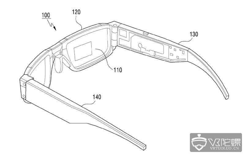 三星可折叠AR眼镜专利曝光:展开镜腿即可激活设备