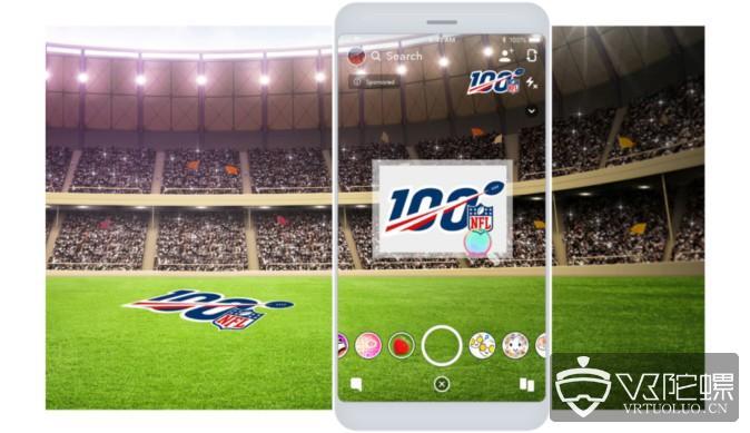 美国职业橄榄球联盟NFL:AR滤镜极具潜力,Snapchat上播放超3亿次