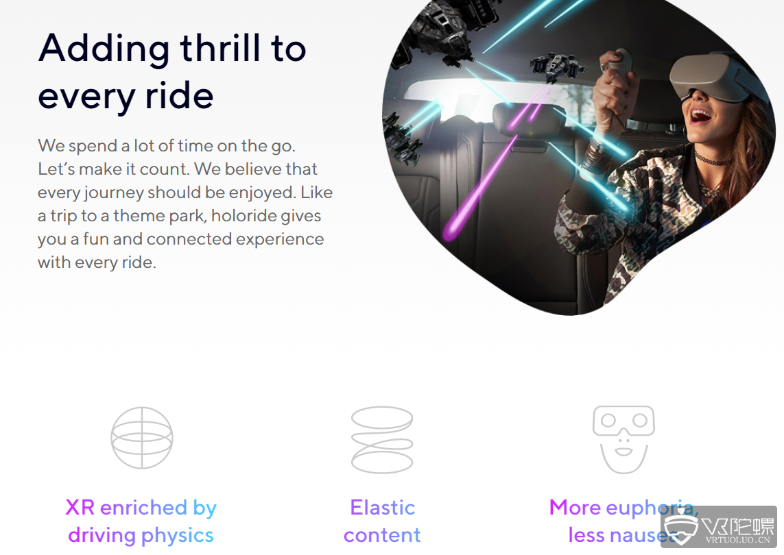 VR初创企业Holoride正在研发车载晕眩症解决方案