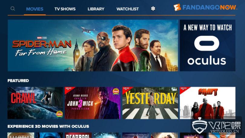 OC6:FandangoNow登陆Oculus平台,将带来90000部电影和电视节目