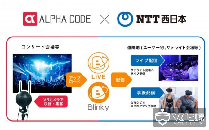 Alpha Code获得NTT西日本4亿日元投资,共同布局VR直播服务