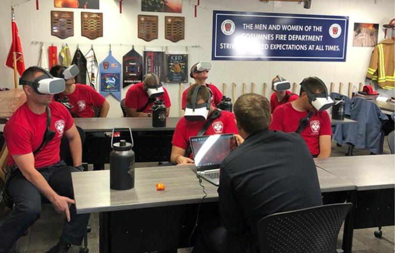美国加州消防局使用Pico VR训练新兵灭火