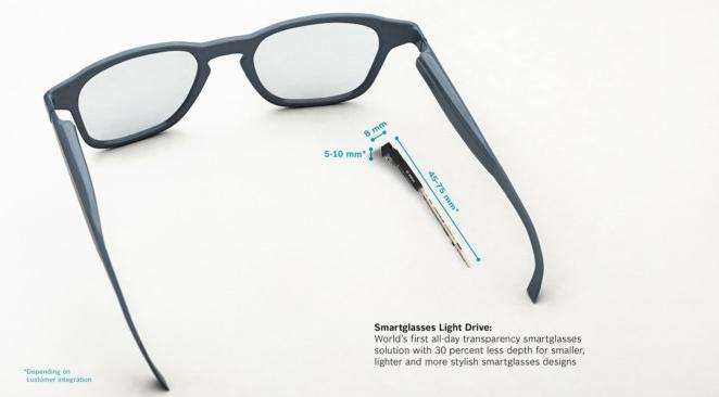 CES2020:重量仅10g,博世将推出超小型AR/智能眼镜光学方案