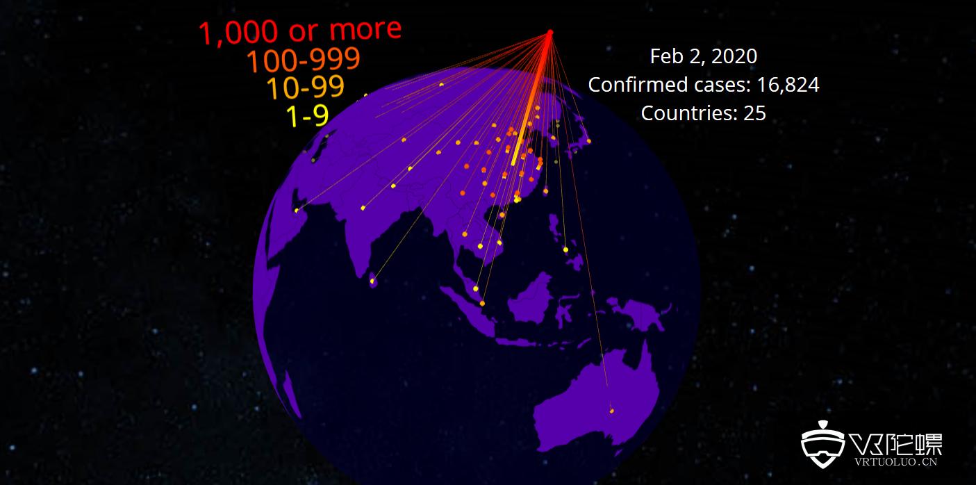 Flow Immersive用AR实现冠状病毒全球可视化追踪