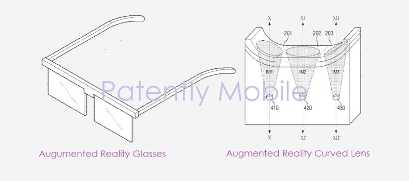 三星第2款AR眼镜专利曝光:具有集成多方位微镜的显示镜片