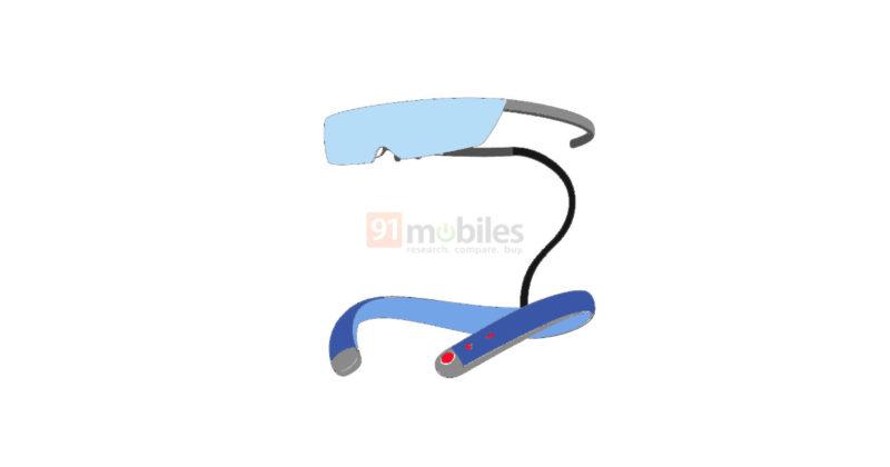 小米AR眼镜专利曝光:采用分体式颈带设计