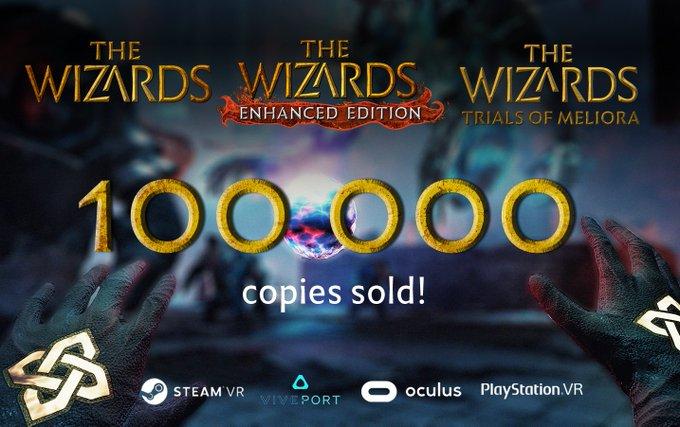 VR游戏《The Wizards》宣布游戏总销量已超10万份