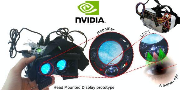 Nvidia使用LED传感器开发体积小、低成本VR注视点追踪系统