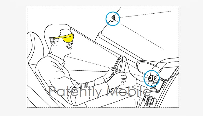 三星AR新专利:可搭配车辆使用的AR眼镜导航应用