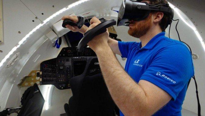 美国飞机制造商波音公司采用VR技术训练宇航员