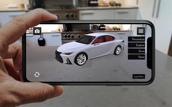 雷克萨斯为展示2021 IS新车型推出AR应用,用户可在虚拟环境查看新车