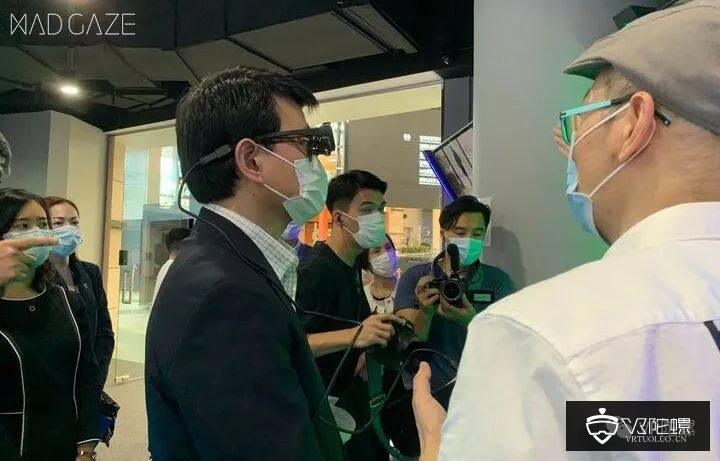 中国香港特区政府领导邱腾华参观5G AR 领军企业MAD Gaze;全家便利店与VR远程操控公司TX合作
