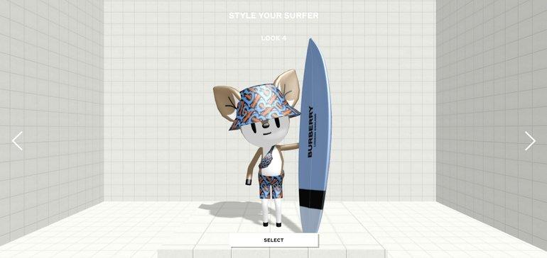 Burberry推新手机游戏《B Surf》,玩家可每周解锁AR角色奖励