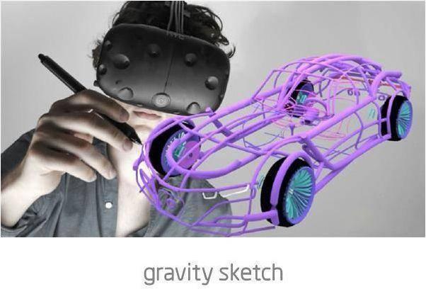 只有谷歌Tilt Brush的艺术创作怎么够, VR专业建模工具Gravity Sketch今日放出