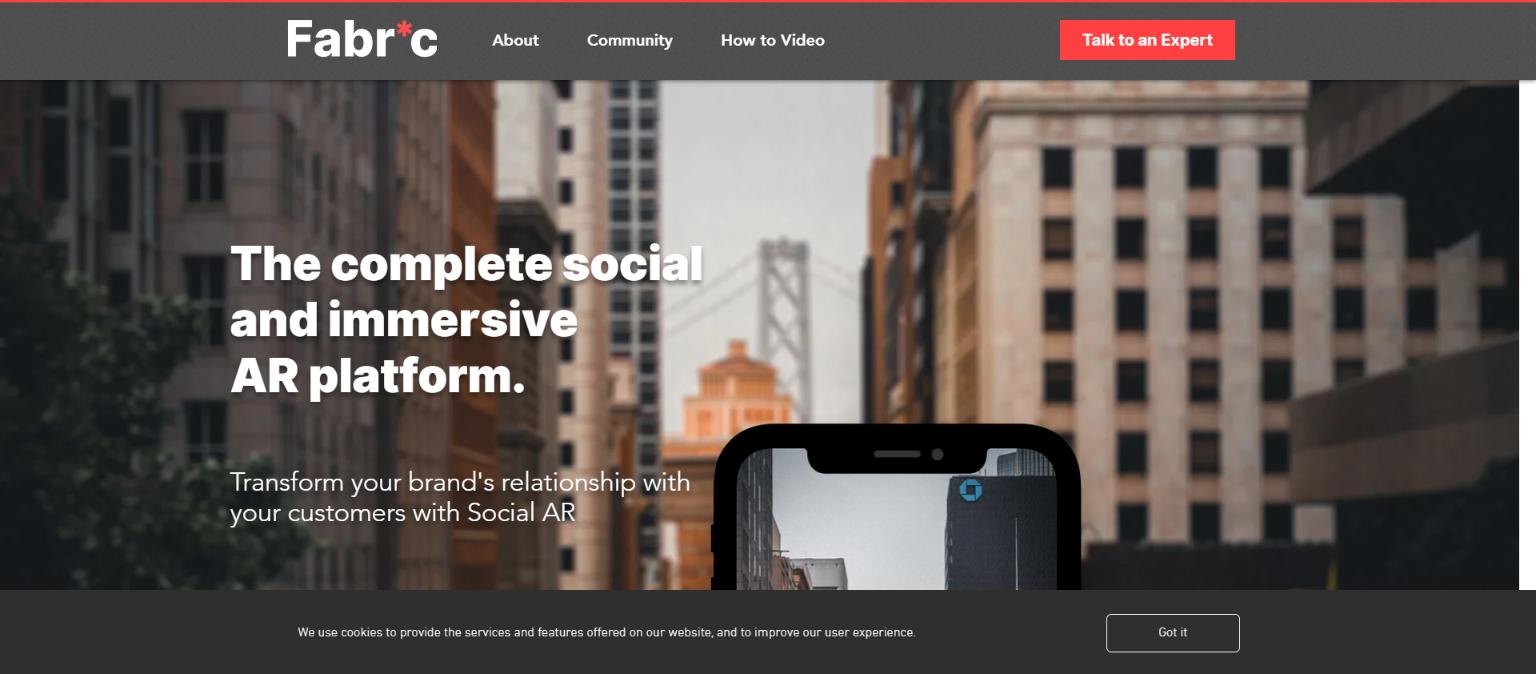 AR社交平台Fabric宣布完成100万美元天使轮融资