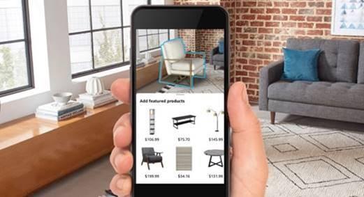 亚马逊推新AR购物工具Room Decorator,可同时添加多个AR对象进行展示