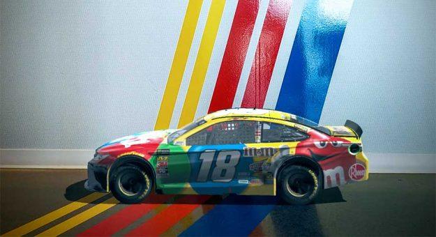虚拟赛车应用《NASCAR Mobile Playoffs AR》可供玩家进行赛车定制并参与比赛