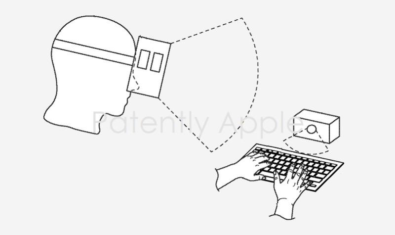 苹果专利显示,未来其HMD设备或采用虚拟键盘及Apple Pencil进行输入