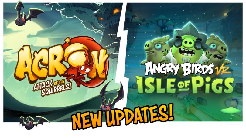 《愤怒的小鸟 VR》和《阿克隆:松鼠的攻击》已发布万圣节更新