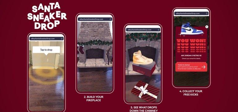 eBay与NBA球星合作推出圣诞AR活动,以在购物季吸引更多移动设备用户
