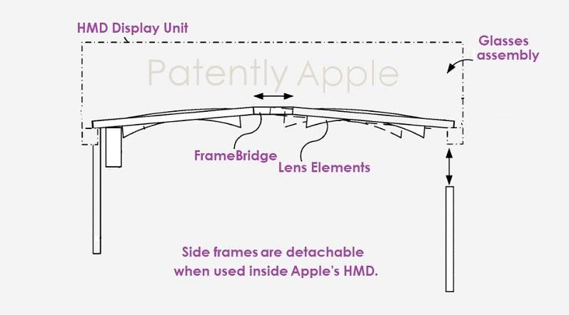 苹果新专利曝光:其HMD设备或搭配可灵活移动拆卸的处方镜片结构