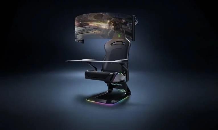 雷蛇计划发布一款沉浸式多功能游戏座椅Project Brooklyn