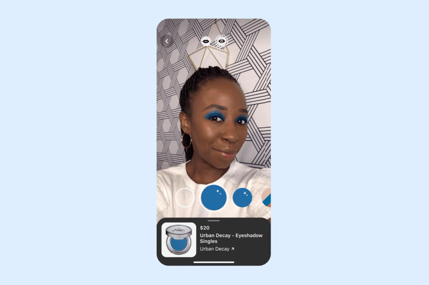 Pinterest新增AR眼影试妆功能,可支持4000种眼影试色