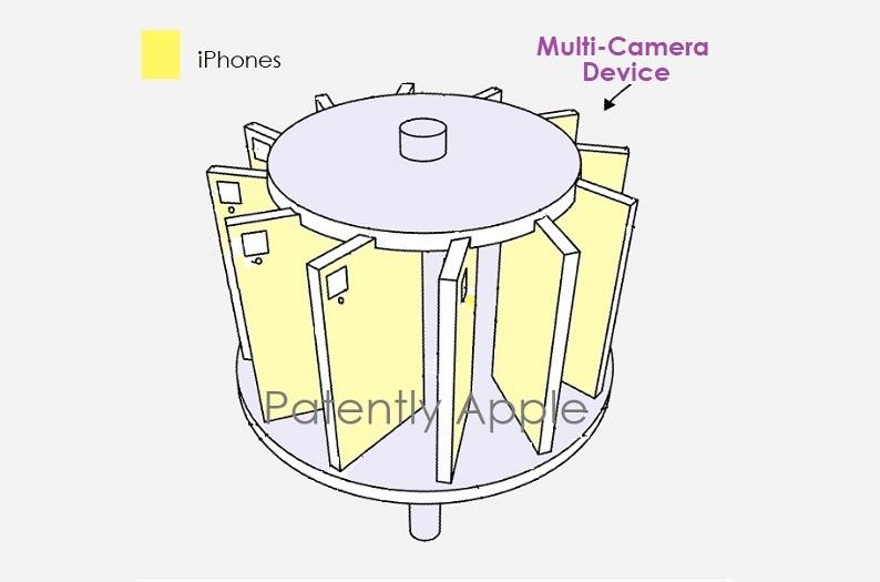 苹果新专利:搭载14台相机的支架系统,可用于制作沉浸式VR全景视频