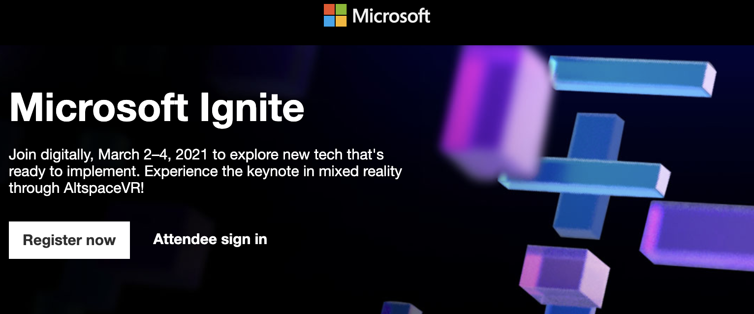微软Ignite3月3日开始,包括MR沉浸式演讲内容