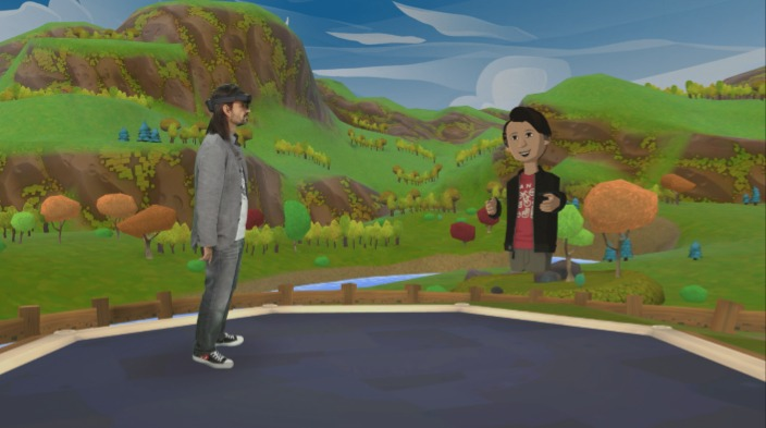 微软和Niantic合作展示《Pokemon GO》HoloLens概念版