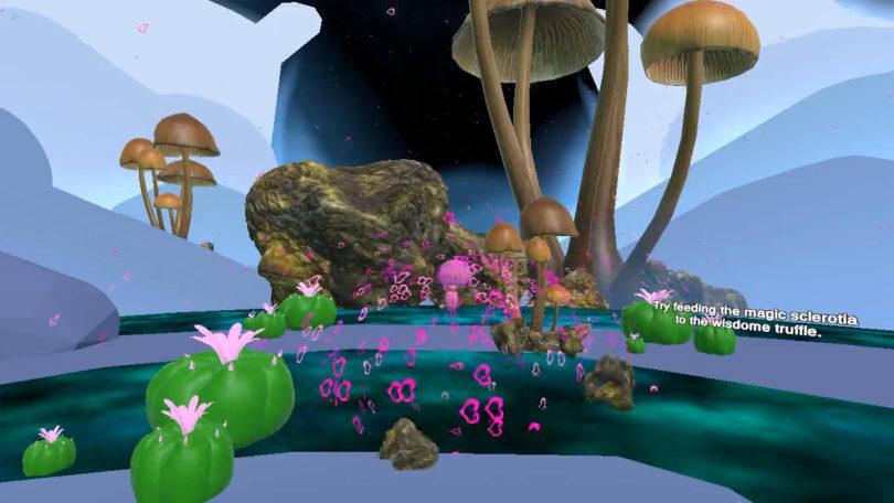 毒蘑菇有益大脑?科教应用《Wisdom VR》展示致幻剂对大脑影响
