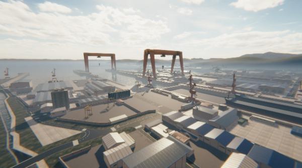 Unity与韩国大宇造船合作,建造基于数字孪生技术的智能船厂