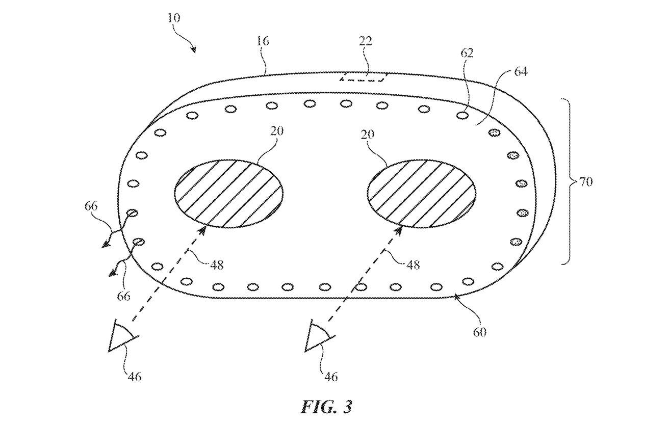 苹果新专利曝光:未来头显设备可自适应环境光,并自动调节用户视角