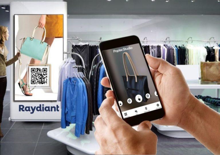 AR营销平台Poplar宣布与Raydiant合作,为零售商提供AR视觉化零售解决方案