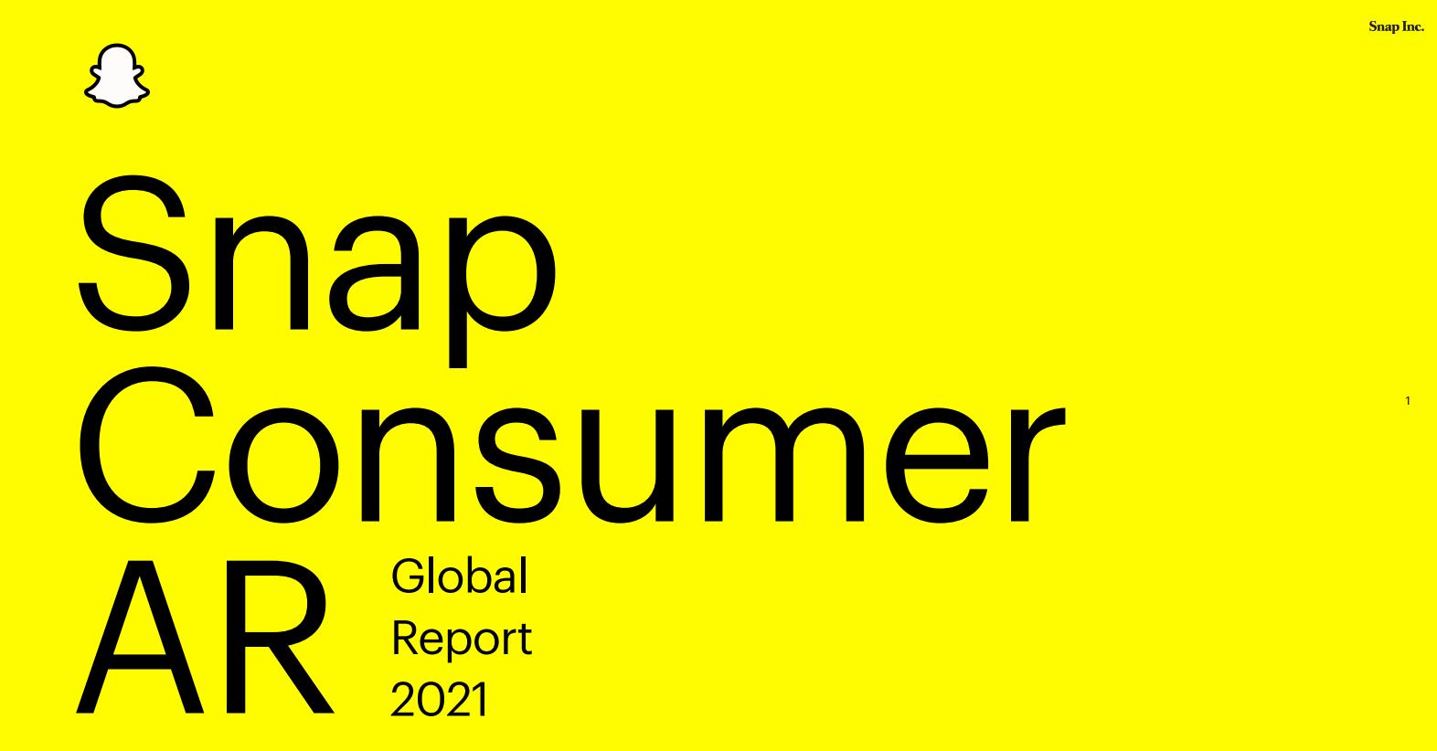 Snapchat发布消费者AR报告:目前有超1亿用户正在使用AR进行购物