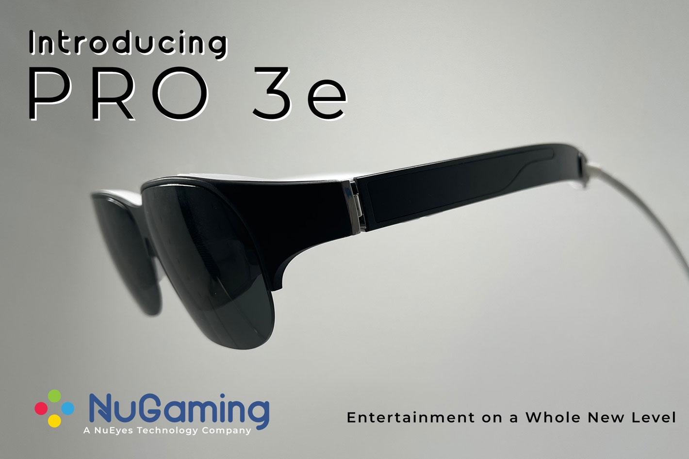 NuEyes面向玩家推出可支持5G的AR眼镜NuGaming Pro 3e