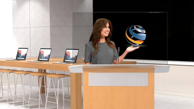 DVE的Holo-Podium可提供全息影像视频通话,兼容Zoom等服务