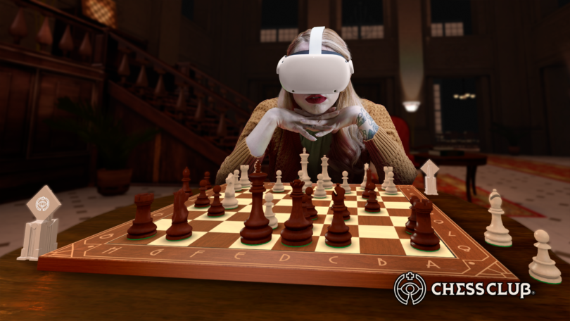 VR国际象棋游戏《Chess Club》将上线Quest,可支持手部追踪