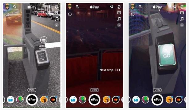 苹果和Snapchat利用AR技术展示如何在纽约地铁使用Apple Pay