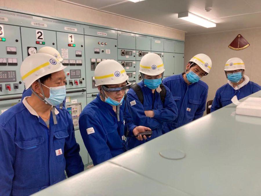 雅苒海洋技术试验使用AR眼镜进行远程服务及培训
