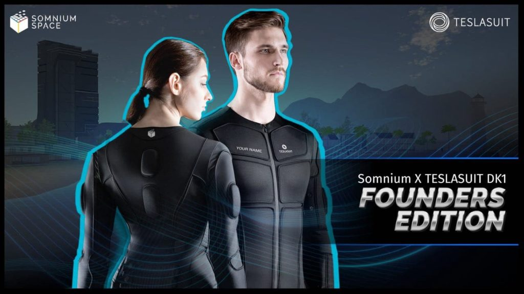VR社交平台Somnium Space和触觉技术公司TESLASUIT合作开发全身动捕服