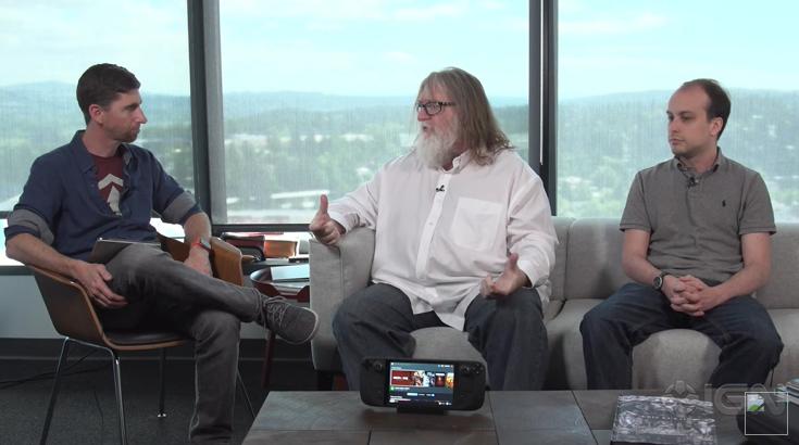 Valve总裁Gabe Newell采访中提及Steam Deck背后的设计理念