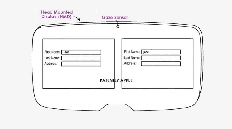 苹果新专利:未来HMD配备注视点追踪传感器,用户可直接通过注视进行文本输入