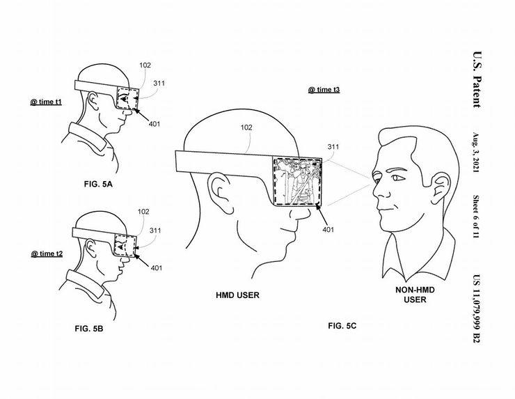 索尼PSVR新专利曝光:将为头显新增外部显示器,可对外展示游戏内容及用户情绪